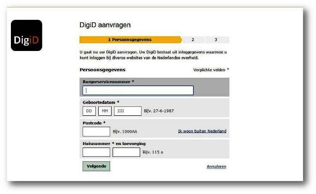 Demandez votre DigiD en ligne