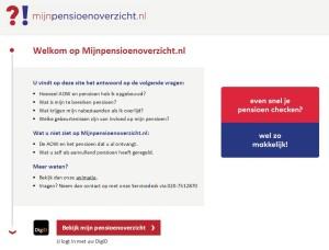 Mijnpensionoverzicht, site internet pour voir vos versements auprès des fonds de pension de retraite aux Pays-Bas