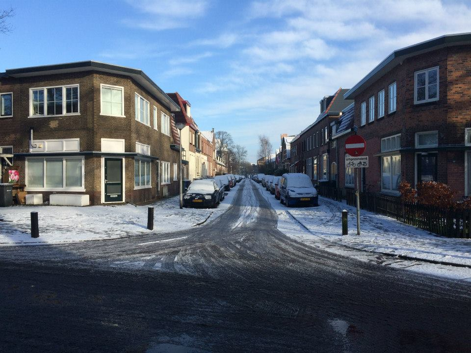 Amersfoort rue du Soesterkwartier enneigée