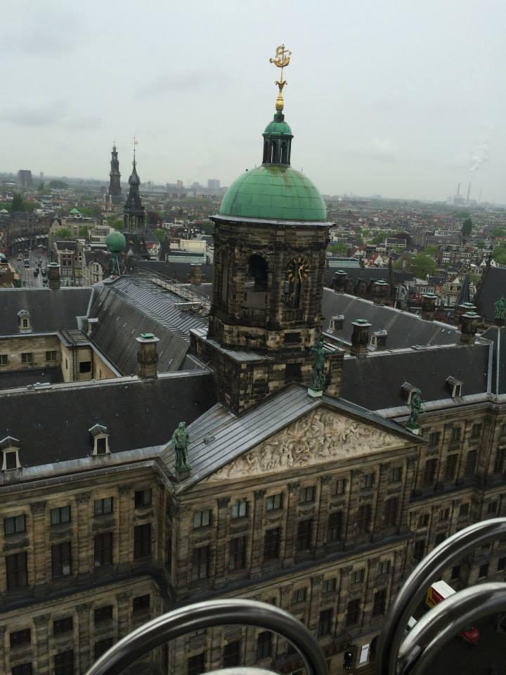 Amsterdam vue sur le palais du Dam