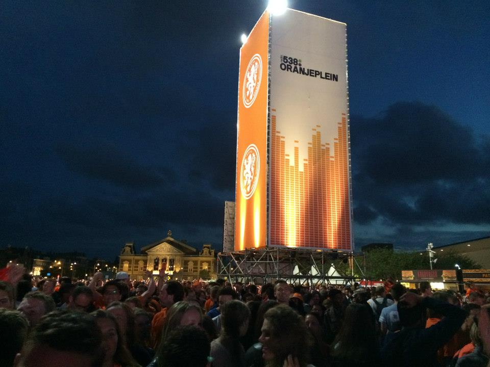Amsterdam Museumplein pendant la Coupe du monde