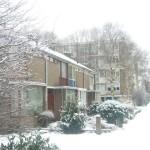 Breda quartier résidentiel sous la neige
