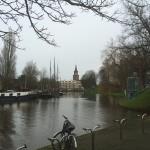 Leeuwarden canal du centre ville