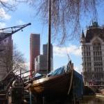 Rotterdam vieux port et la tour Witte Huis