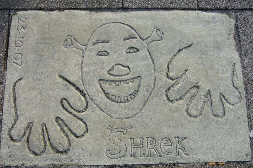 Rotterdam plaques des célébrités sur Leuvehaven