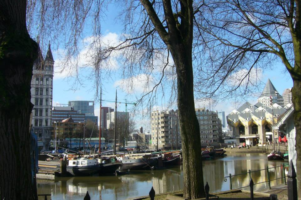 Rotterdam vieux port et maisons cubiques