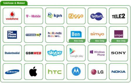 Opérateurs de réseau mobile Pays-Bas sur Kadaza