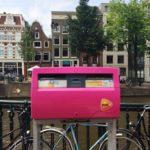 Amsterdam boîte aux lettres pendant la Gay Pride