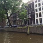 Amsterdam canal du centre ville