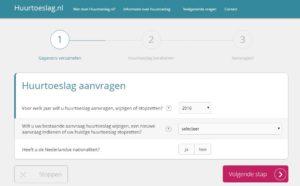 Huurtoeslag, simulateur pour le calcul de vos droits à l'aide au logement aux Pays-Bas