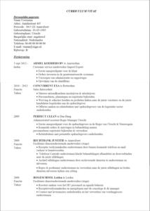 CV en néerlandais