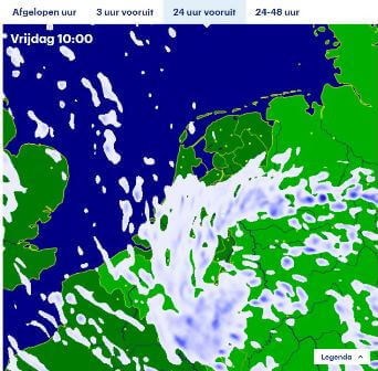 Radar pluie Pays-Bas en direct