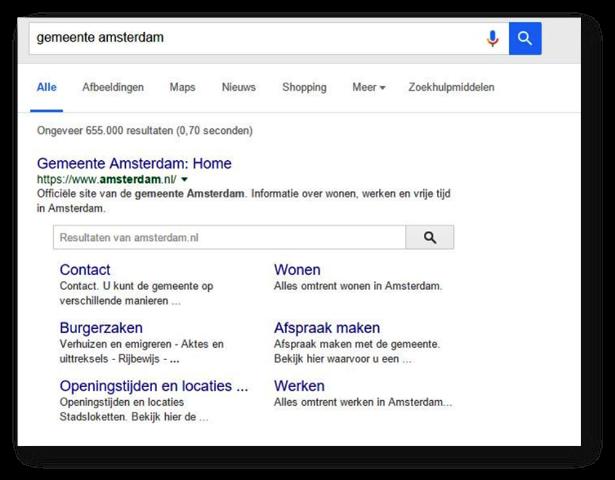Mairie d'Amsterdam sur Google