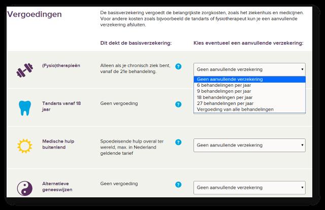 Utiliser le comparateur Independer.nl pour trouver l'assurance maladie correspondant à vos besoins aux Pays-Bas