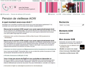 SVB portail d'informations sur votre minimum vieillesse universel aux Pays-Bas