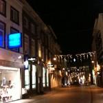 Breda rue commercante la nuit