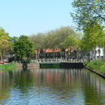 Middelburg canal du centre ville au printemps