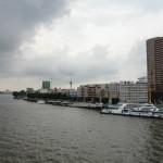 Rotterdam et son fleuve la Nouvelle Meuse